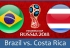 Soi kèo Brazil vs Costa Rica, 19h00 ngày 22/06, World Cup 2018