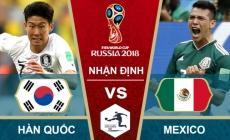 Soi kèo Hàn Quốc vs Mexico, 22h00 ngày 23/06, World Cup 2018