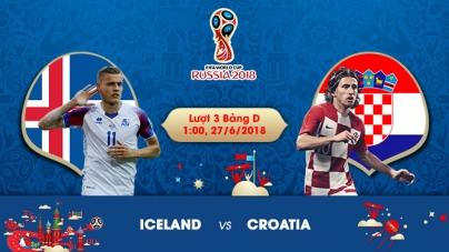 Soi kèo Iceland vs Croatia,  01h00 ngày 27/06, World Cup 2018