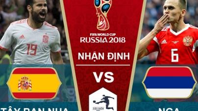 Soi kèo Tây Ban Nha vs Nga, 21h00  ngày 01/07, World Cup 2018