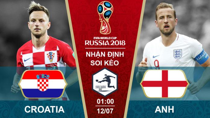Soi kèo Croatia vs Anh, 01h00 ngày 12/07, World Cup 2018