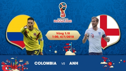 Soi kèo Colombia vs Anh, 01h00 ngày 04/07, World Cup 2018