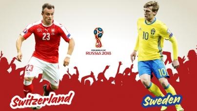 Soi kèo Thụy Điển vs Thụy Sĩ, 21h00 ngày 03/07, World Cup 2018