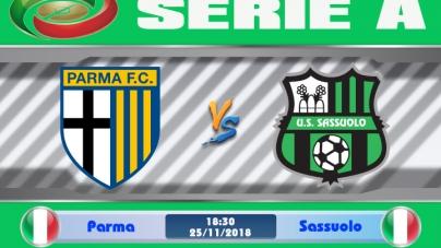 Soi kèo Parma vs Sassuolo,  18h30 ngày 25/11, VĐQG Italia