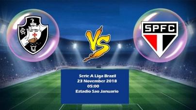Soi kèo Vasco da Gama vs Sao Paulo, 05h00 ngày 23/11, VĐQG Brazil