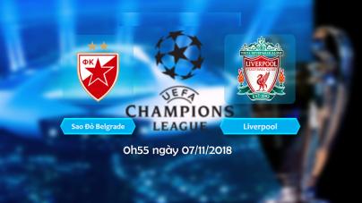 Soi kèo Crvena Zvezda vs Liverpool, 00h55 ngày 07/11, UEFA Champions League