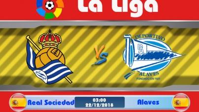 Soi kèo Real Sociedad vs Alaves, 03h00 ngày 22/12, VĐQG Tây Ban Nha