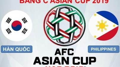 Soi kèo Hàn Quốc vs Philippines, 20h30 ngày 07/01, Asian Cup 2019
