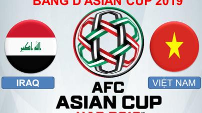 Soi kèo Iraq vs Việt Nam, 20h30 ngày 08/01, Asian Cup 2019
