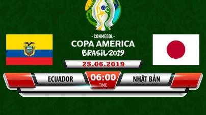 Soi kèo Ecuador vs Nhật Bản, 06h00 ngày 25/06, Copa America 2019